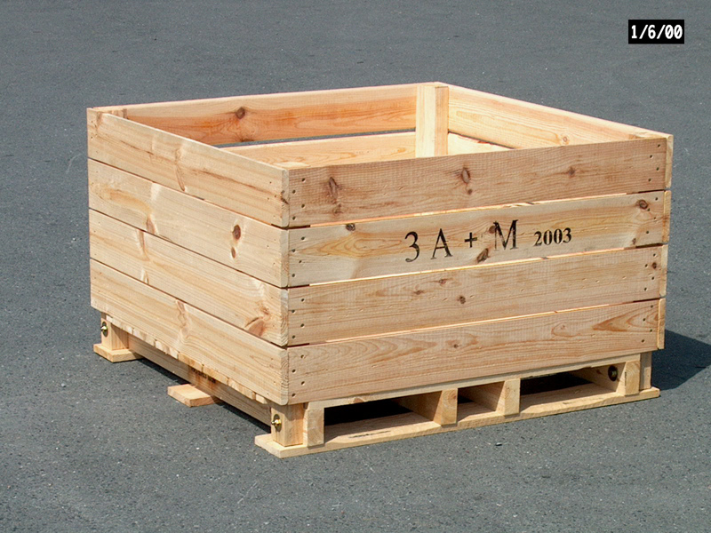 Barbarie apple storage box type-F 2-way entry pallet 100x120x74cm ...